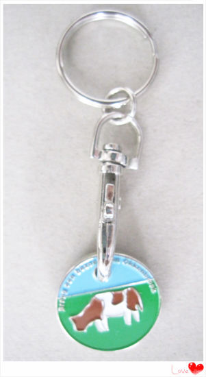 Custom Logo Metal Coin Keyring for Wholesale (YB-MK-02)