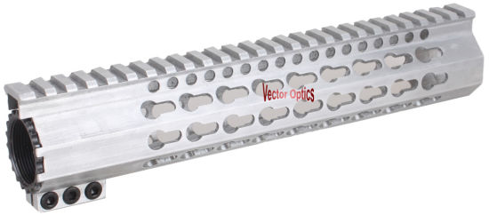 7 10 12 15 Ar15 Keymod Rail Handrail Ar 15 Free Float Handguard with Slim Clamp Extrusion Style Raw Aluminum in The White Gun Accessories Parts pictures & photos