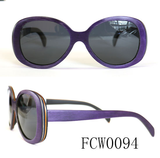 New Design Real Wooden Sunglasses Meet UV400 Standard