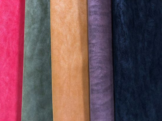 Imitation Fish Roe Stripe PU Synthetic Leather for Shoe&Bags&Sofa