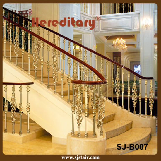 Grand Casting Aluminum Balustrade For Stainless Steel Staircase Railing