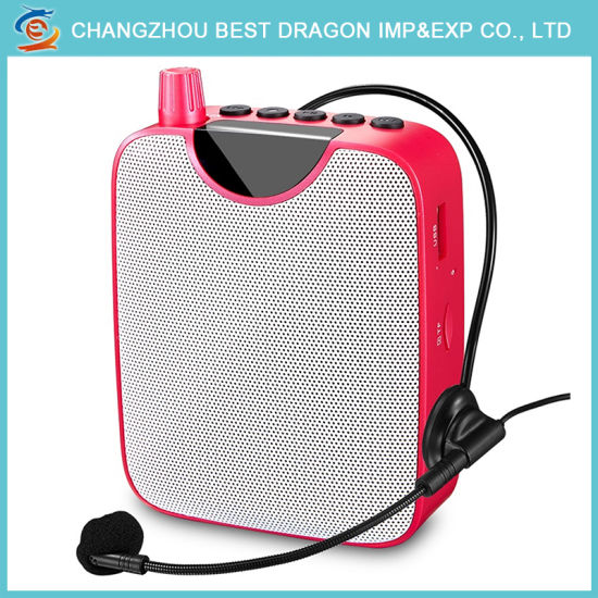 China FM Mini Portable Voice Music Amplifier Wired Microphone for