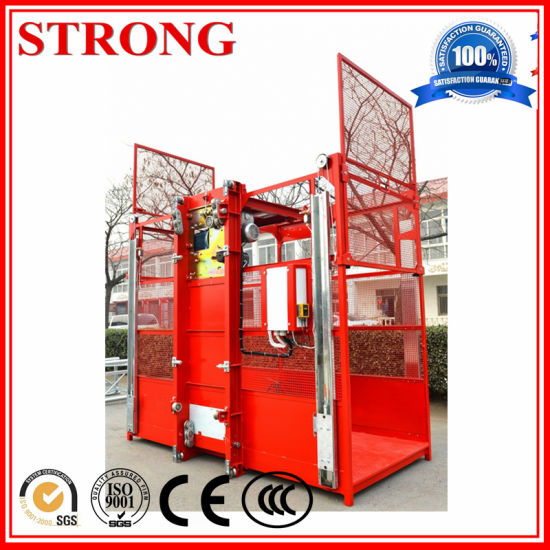 Sc200 Double Cage Building Hoist pictures & photos