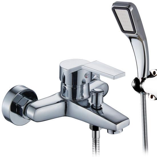 China Sanitary Ware Wall Mounted Bathroom Bathtub Thermostatic Bath Mixer Shower Faucet Set