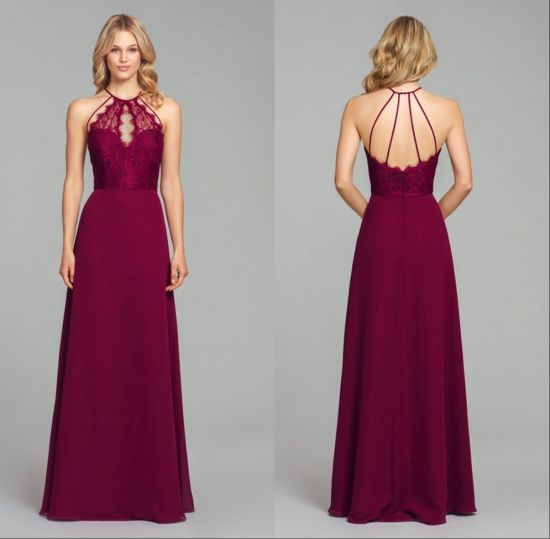 Sexy Fashion Lace Evening Prom Dress Plus Bridesmaid Dress Qjm5524