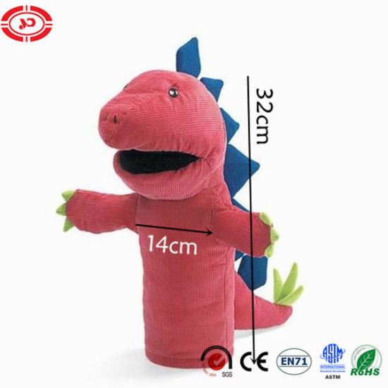 Dinosaur Hand Puppet Funny Kids Teaching Educational Plush Toy pictures & photos