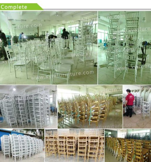 Custom Hotel Furniture Popular Metal Dining Chair Stackable Wedding Chiavari Chair pictures & photos