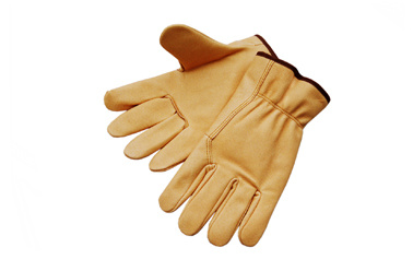 Economy Pig Grain Leather Driver Work Glove-9519 pictures & photos