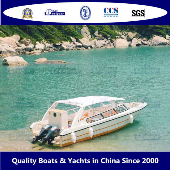 Bestyear 11.60m 38FT Fiberglass Boat for Fishing Working or Passenger Sightseeing 20 to 30 People with Canopy