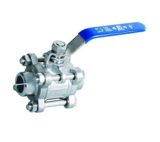 Q11f Three Piece Screw Thread Butt Welding Sphere Ball Valve pictures & photos