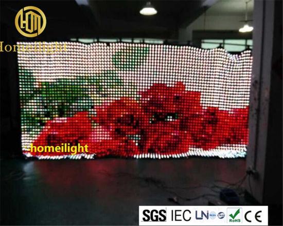 Flexible LED Curtain Display Price Video Wall Display LED Matrix Display