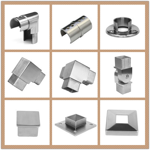 Simi-Finished Square Tube Support / Stainless Steel Handrail Part