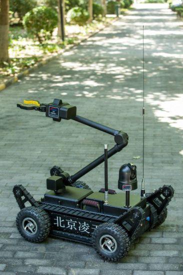 Robot Er3 Flexible Operated on Explosive Ordance Disposal