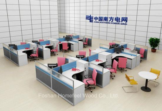 Wholesale Office Furniture L Shape Modern Workstation (HF-YZX056)