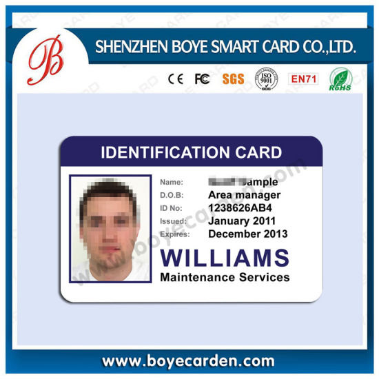 picture relating to Printable Id Cards called Printable PVC Picture Identity Playing cards