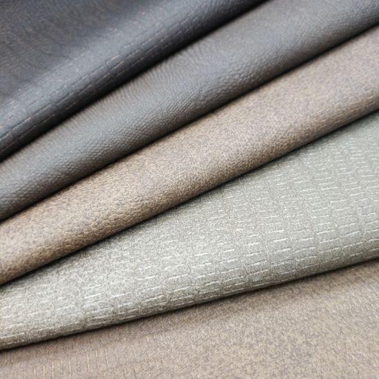 Soft Popular Nice PU Leather for Classic Sofa