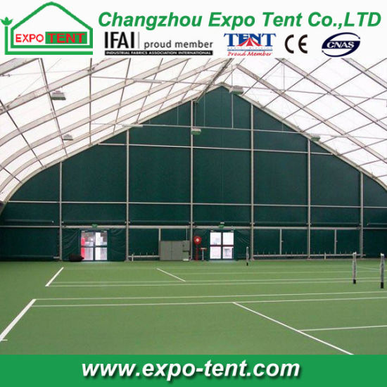 China Large Clear Span Curved Tennis Court Tent China Tennis Court