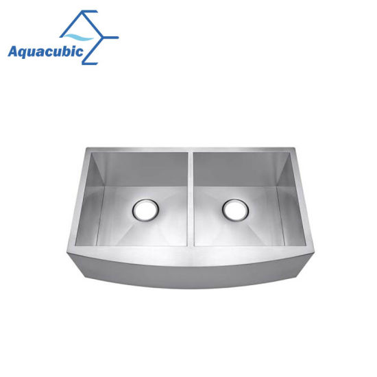 China Hot Sale Stainless Steel Handmade Double Bowl Kitchen Sink