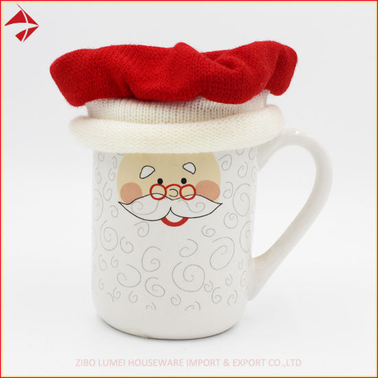 Christmas Hat Cover Sublimation Mug with Knit Sweater Cover Coffee Cups pictures & photos