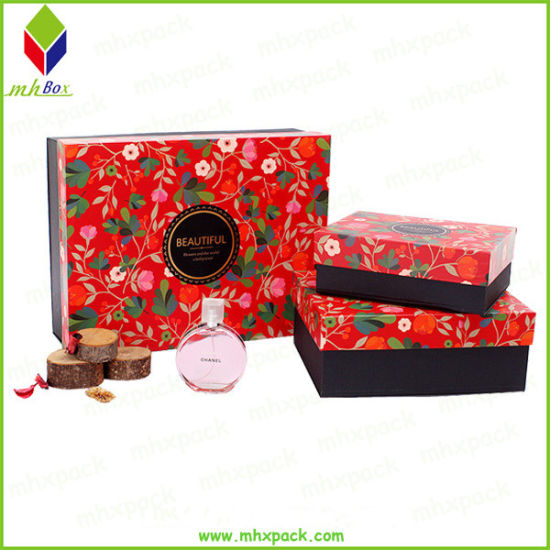 Custom Rigid Cardboard Cosmetic Paper Gift Packaging Box
