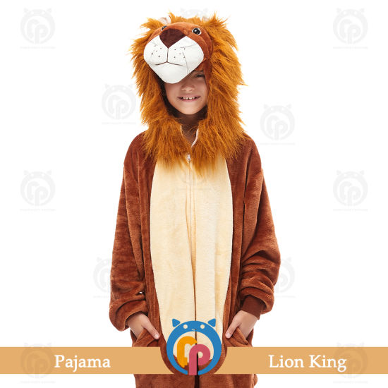 Wholesale Animal Cartoon Theme Party Lion King Costume for Adult and Childrens