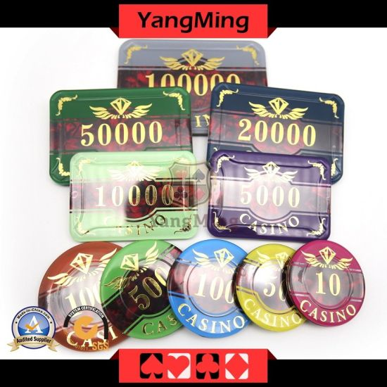 Casino Poker Chips of 760PCS with Chip Case Custom with Factory RFID Poker Chip Set (YM-FOCP004)
