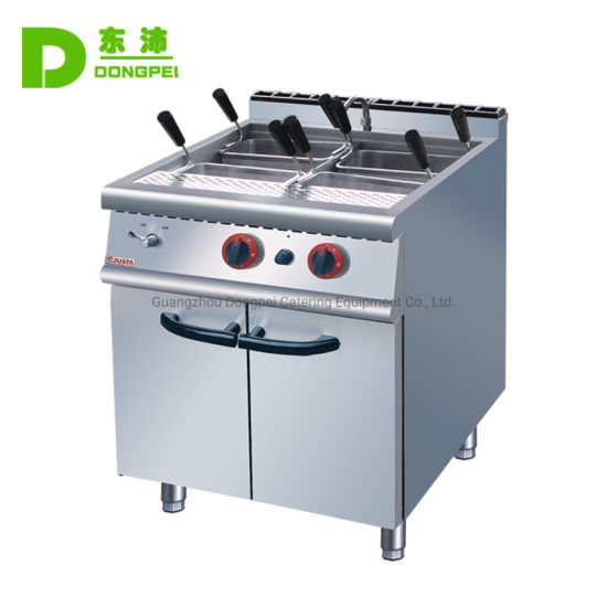 Commercial Vertical Stainless Steel Gas Pasta Cooker with Cabinet pictures & photos