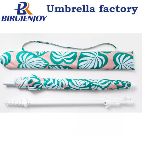 New Fashion Large Beach Sun Umbrella with Anchor with Carry Bag