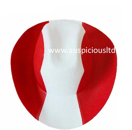 Non-Woven Fabrics National Flag Custom Cowboy Hat