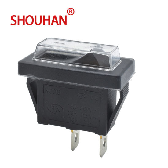 on-off Rocker Switch Kcd3-101 2 Pin with Waterproof Cap