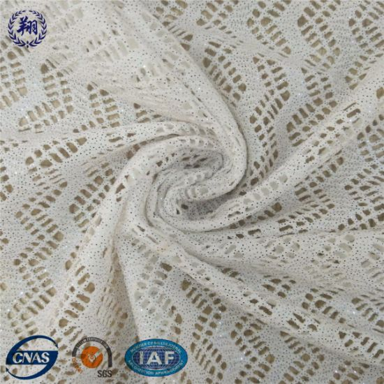 Metallic Nylon/Spandex High Elastane Jacquard Fabric pictures & photos