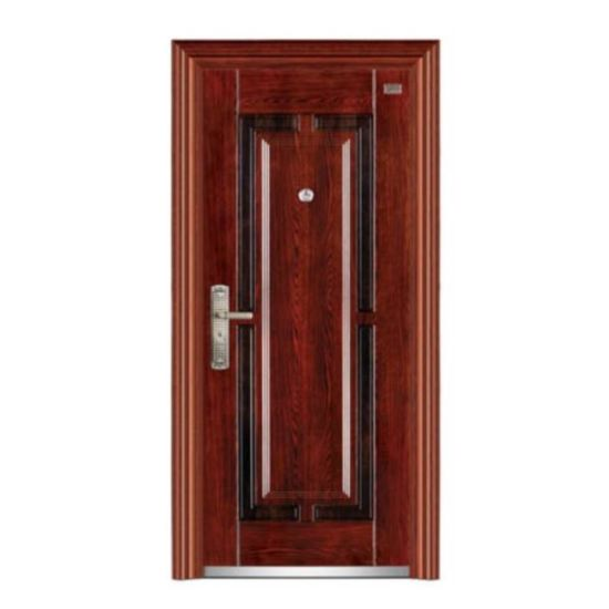 Wooden Color Single Steel Security Door pictures & photos