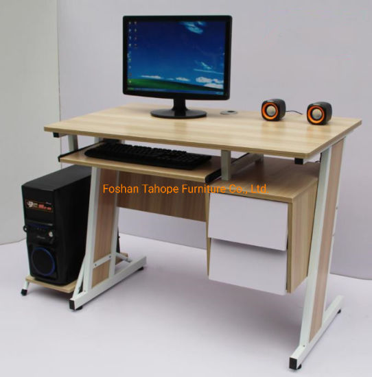 Home Office Furniture Laptop Steel Support Wooden Computer Standing Desk Workstation Wholesale