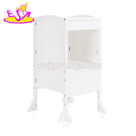 Pleasing High Quality White Wooden Folding Step Stool For Kids W08G276 Squirreltailoven Fun Painted Chair Ideas Images Squirreltailovenorg