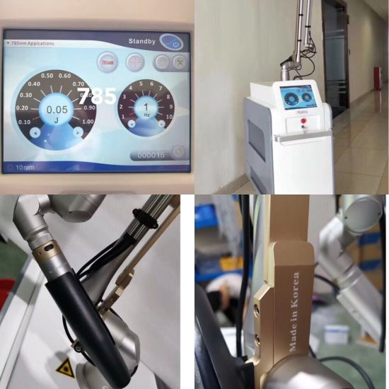 Korea's Handle 1064/785/532nm Picosecond Laser Picolaser Picsure Picoway Laser Ng YAG Laser Tattoo Removal Scar Treatment