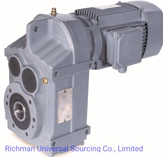 F Series Motor Reduction Gearbox Helical Gear Reducer