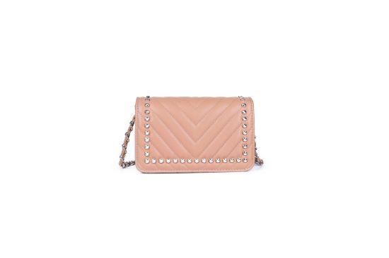 Tc_1327 Factory Fashion Design Lady Handbags Genuine Leather Cotton Silk Bag