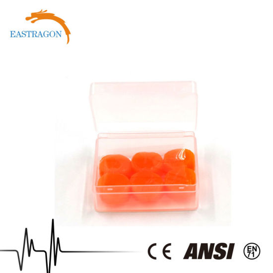 Sets of Silicone Gel Ear Plugs with Plastic Box pictures & photos