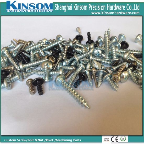 Special Metal Parts Slotting Pan Head Self Tapping Screw pictures & photos