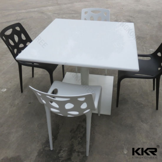 Artificial Marble Restaurant 4 Seater Dining Table