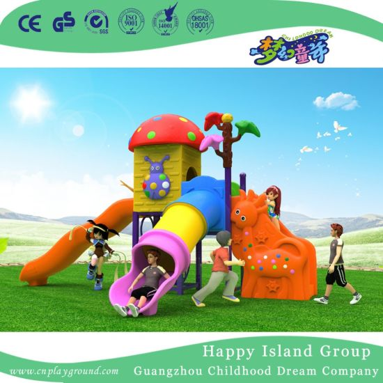2018 New Design Outdoor Small Mushroom House Playground with Smile Flower (H17-A5) pictures & photos