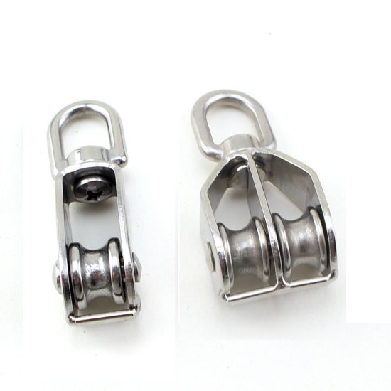 China Stainless Steel Pulley Steel Wire Rope Double Pulley - China ...