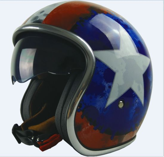 Motorcycle Half Helmets With Internal Sun Visor Vast