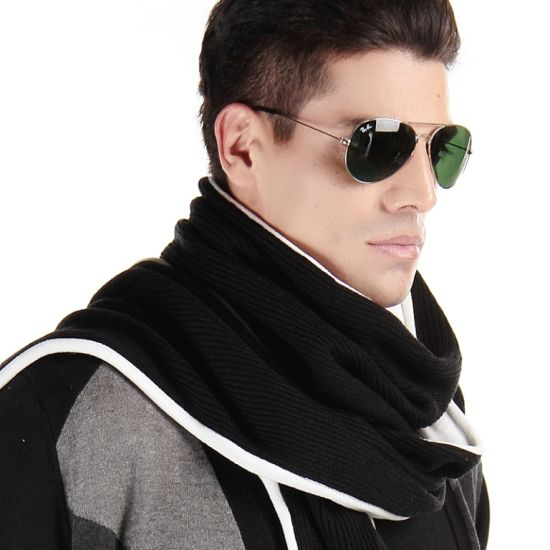 100% Acrylic Knitted Sports Woven Scarf