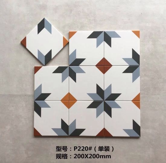 Beautiful Handmade Pattern Decorative Porcelain Tile 200X200mm for Wall and Floor