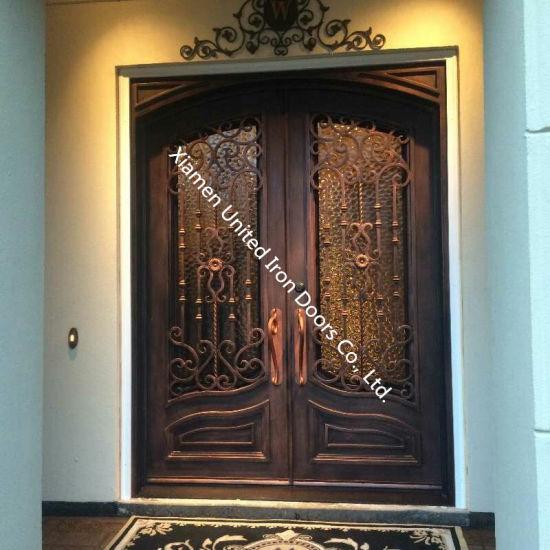 China American Standard Elegant Steel Doorwrought Iron Door Entry