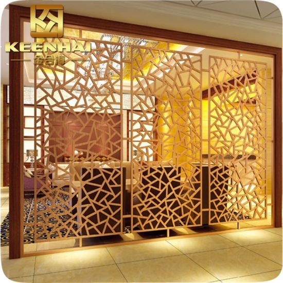 China Restaurant Decorative Laser Cut Aluminum Partition