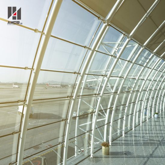 Modern Exterior Facade High Quality Point Support Glass Curtain Wall Price pictures & photos