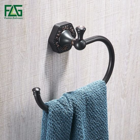 Flg Oil Rubbed Bronze Plated Brass Bathroom Towel Ring pictures & photos