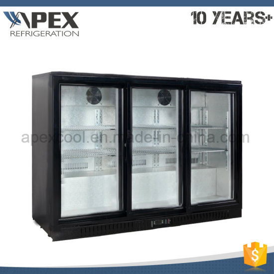 Glass Triple Doors Under Counter Back Bar Cooler Mini Bar